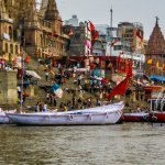 image of  boats on a river in India