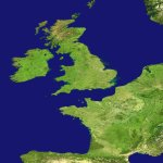 aerial image of Europe