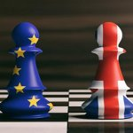 EU chess piece and UK chess piece