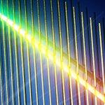 Artist's impression of single-nanowire spectrometer