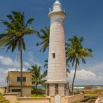 Light house at Galle Dutch Fort in Sri Lanka