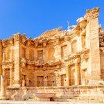 Nymphaeum in the Roman city of Gerasa, preset-day Jerash, Jordan