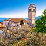 Old town of Kastav above Kvarner bay view opatija riviera of Croatia
