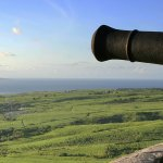 Cannon station found at Brimstone Hill in St. Kitts