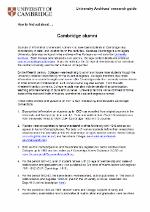 Guide to researching Cambridge alumni screen shot