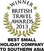 British Travel Awards 2013 Best Small Holiday Company to Southern Asia