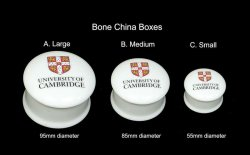 Bone china round boxes