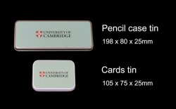 pencil case tin and cards tin