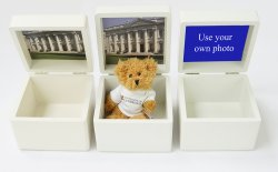 Small Cambridge wooden Keepsake Box with Teddy