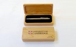 Wood Pen Can with velvet insert