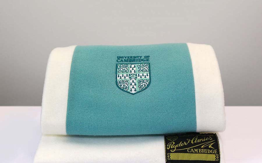 Fleece-backed alumni scarf