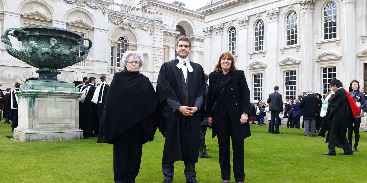 Diego with Mum and Grandma.