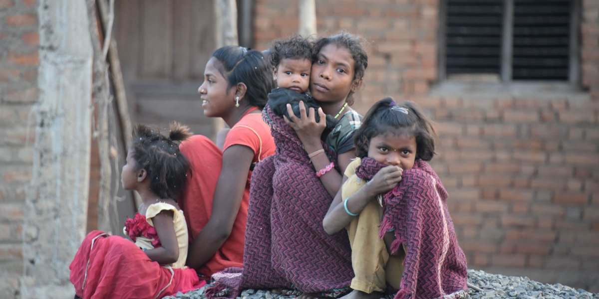 Group of Indian female children