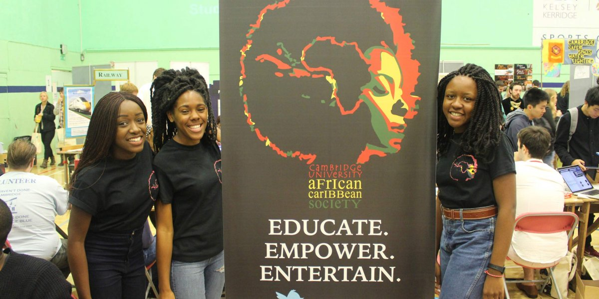 Students at the ACS stall at the Fresher's Fair
