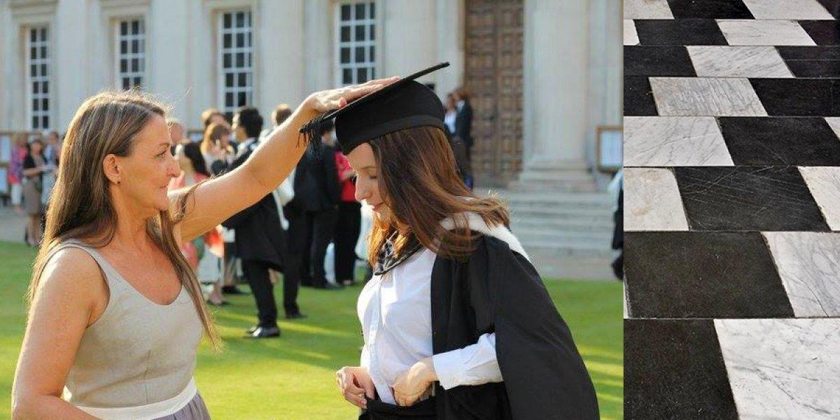 Jessica and her mum, Joanna, on graduation day