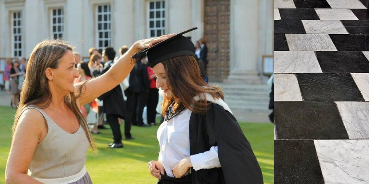 Jessica and her mum, Joanna, on graduation day