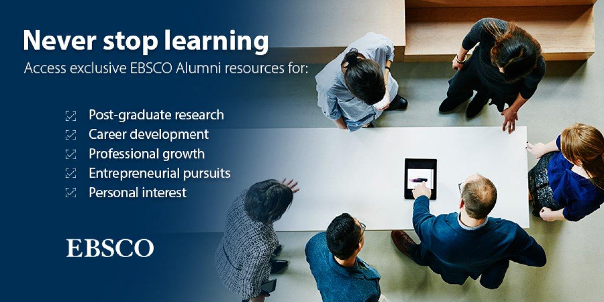 EBSCO Alumni Database Banner