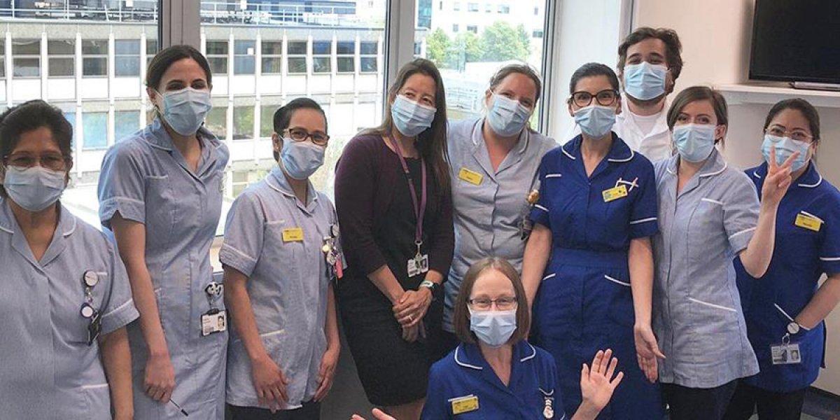 Dr Estee Torok with nurses
