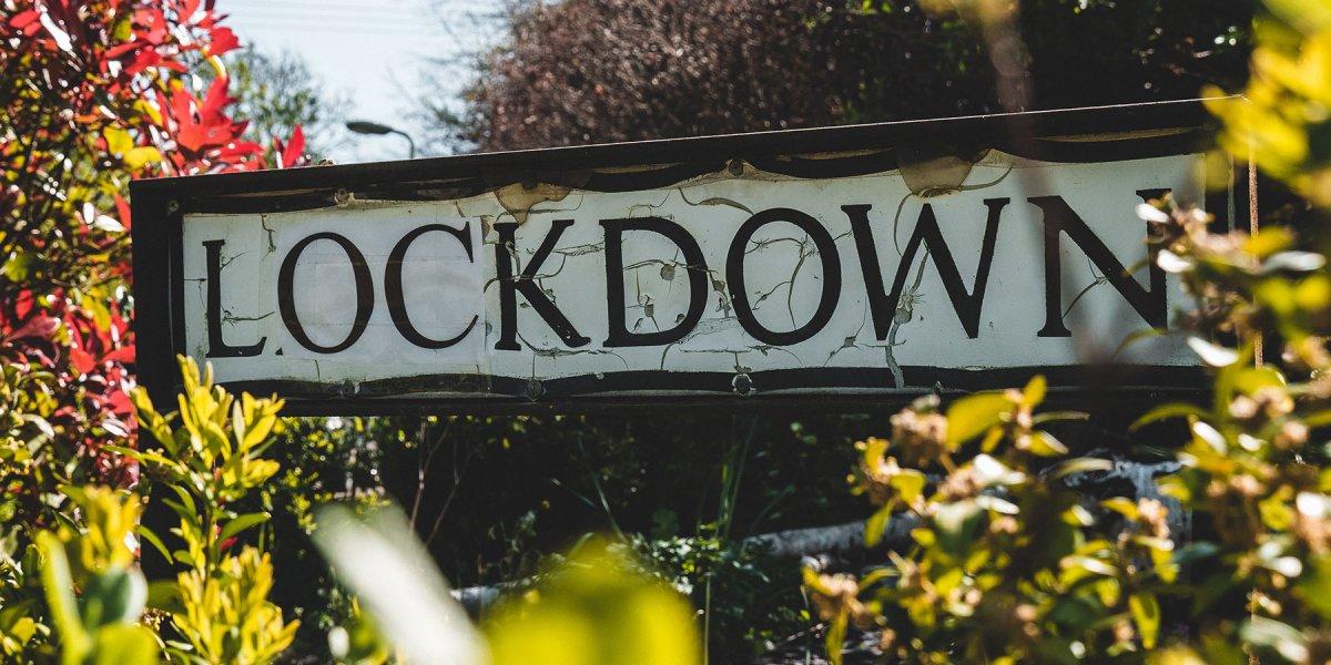 Lockdown road sign