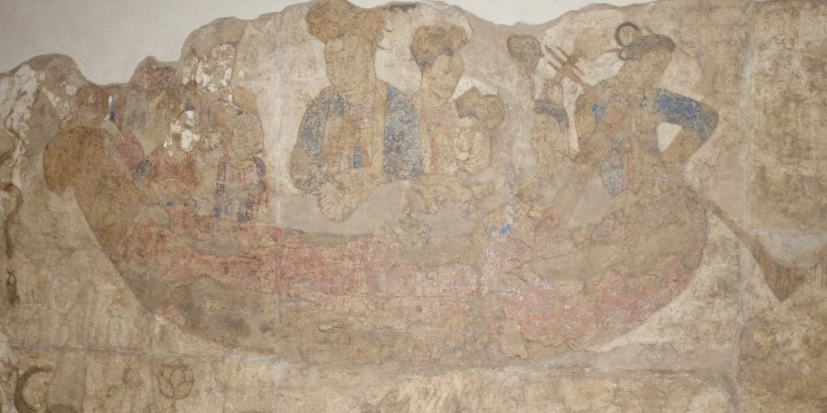 Sogdian mural, Afrāsiāb, Uzbekistan depicting Empress Wuzetian
