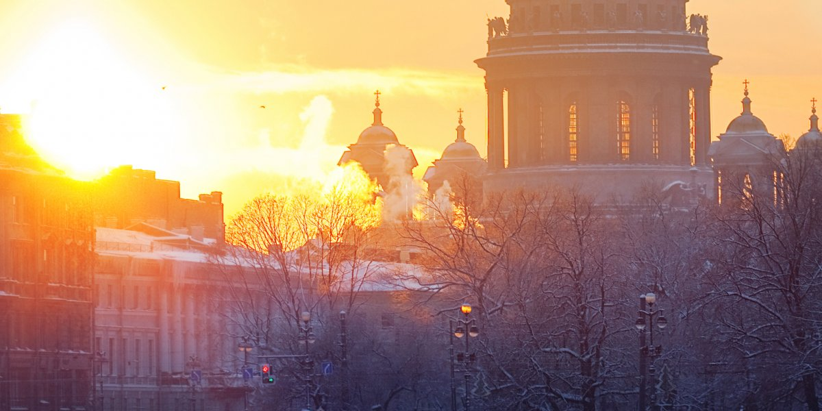 St Petersburg in the evening sun