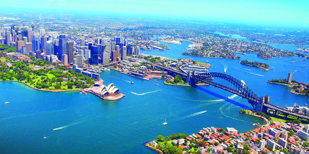 Ariel view of Sydney Harbour