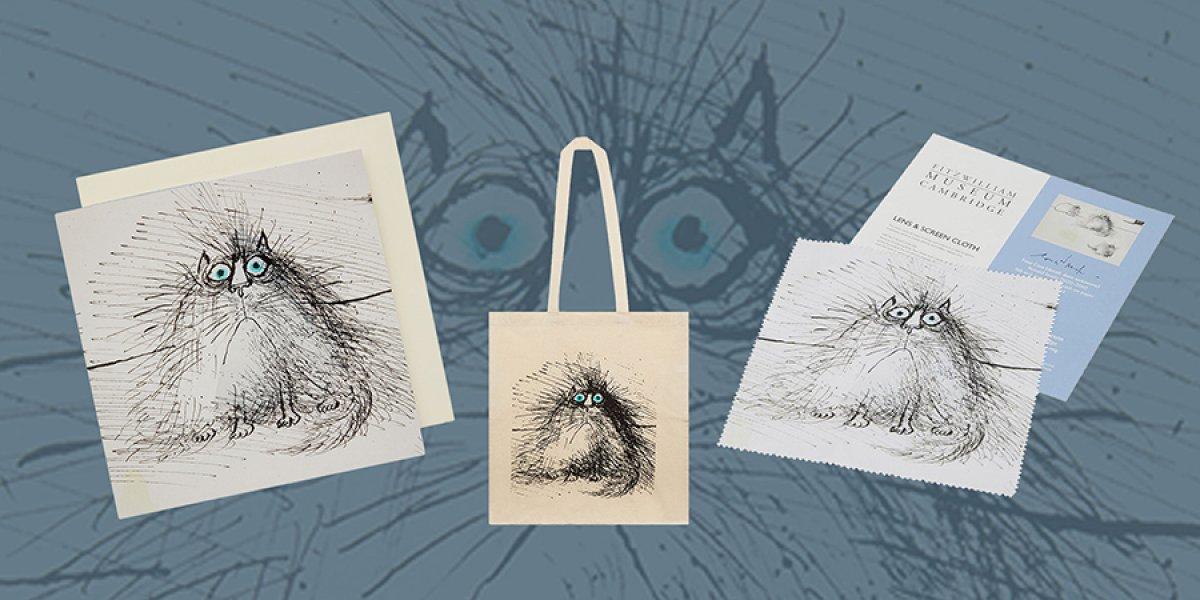 Searle postcard and tote bag