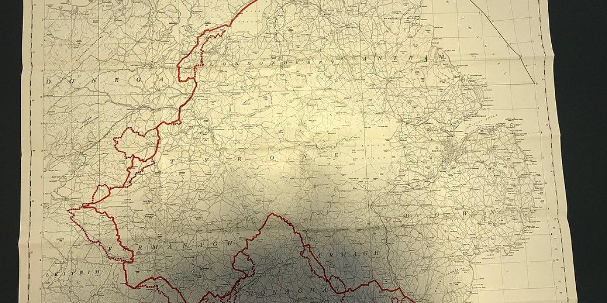 Map showing border between Ireland and Northern Ireland