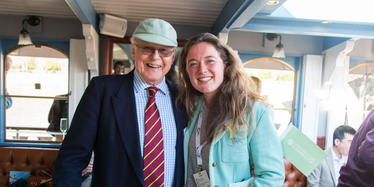 2017 speaker, Fiona, pictured with a fellow Blue