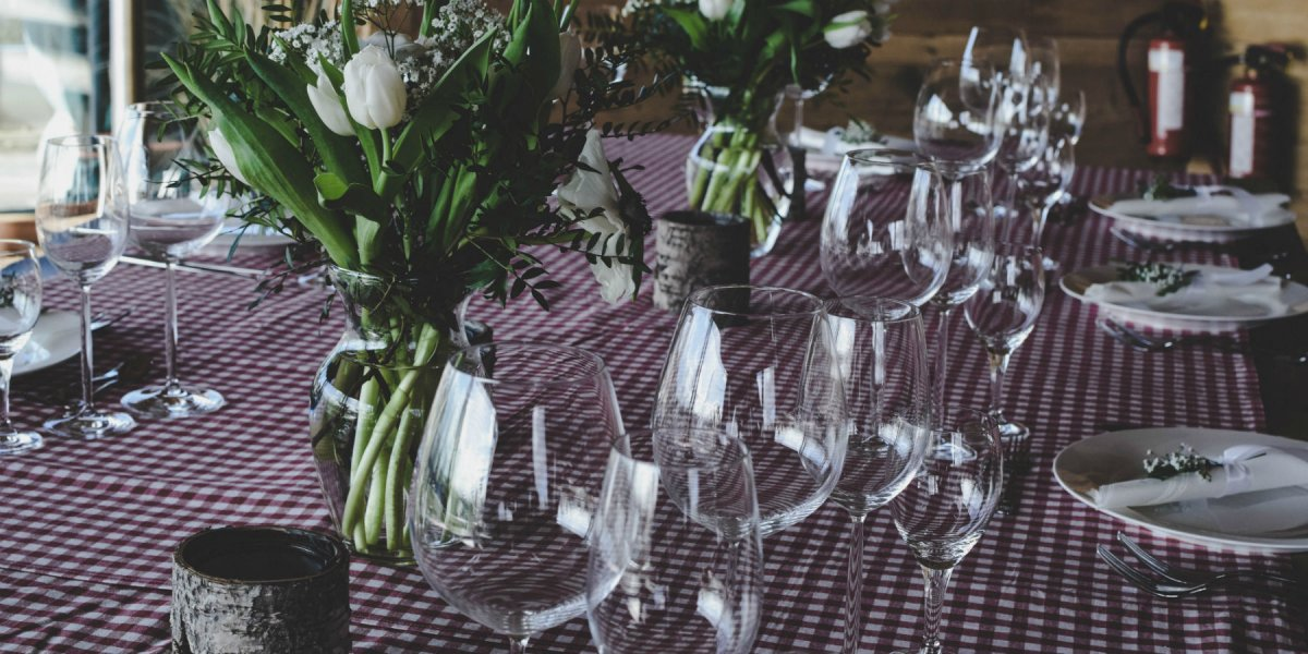 Dinner event table setting