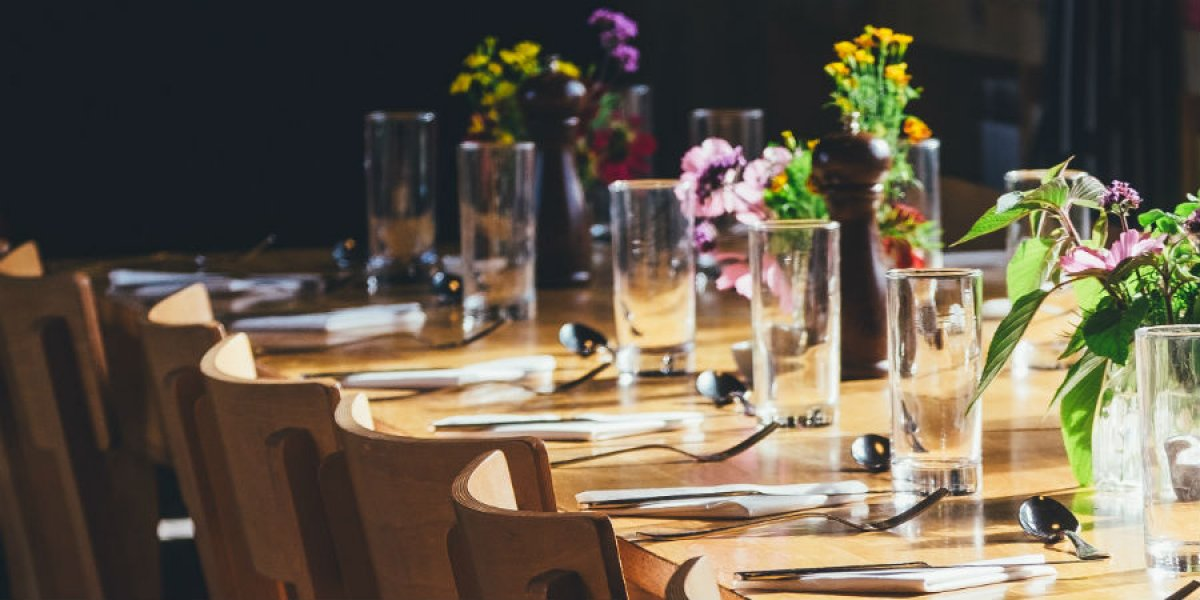 Networking dinner table