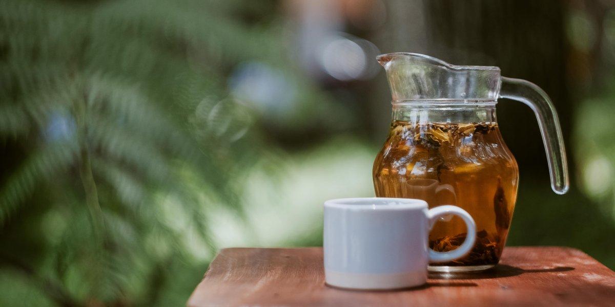 Tea in glass jug