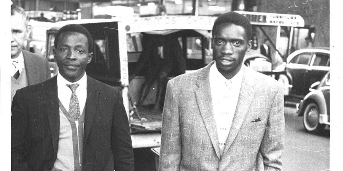 Archival image of sociologist, activist and author Professor Archie Mafeje (1936-2007)