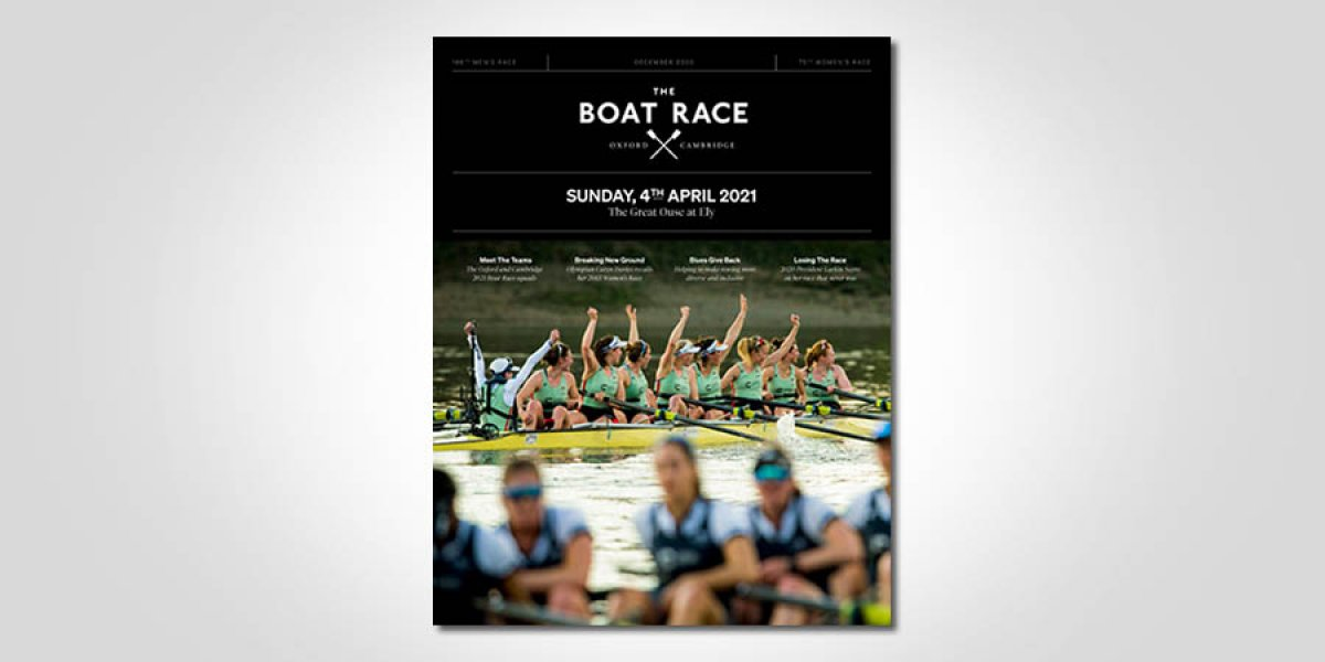 Boat Race magazine cover, December 2020 edition