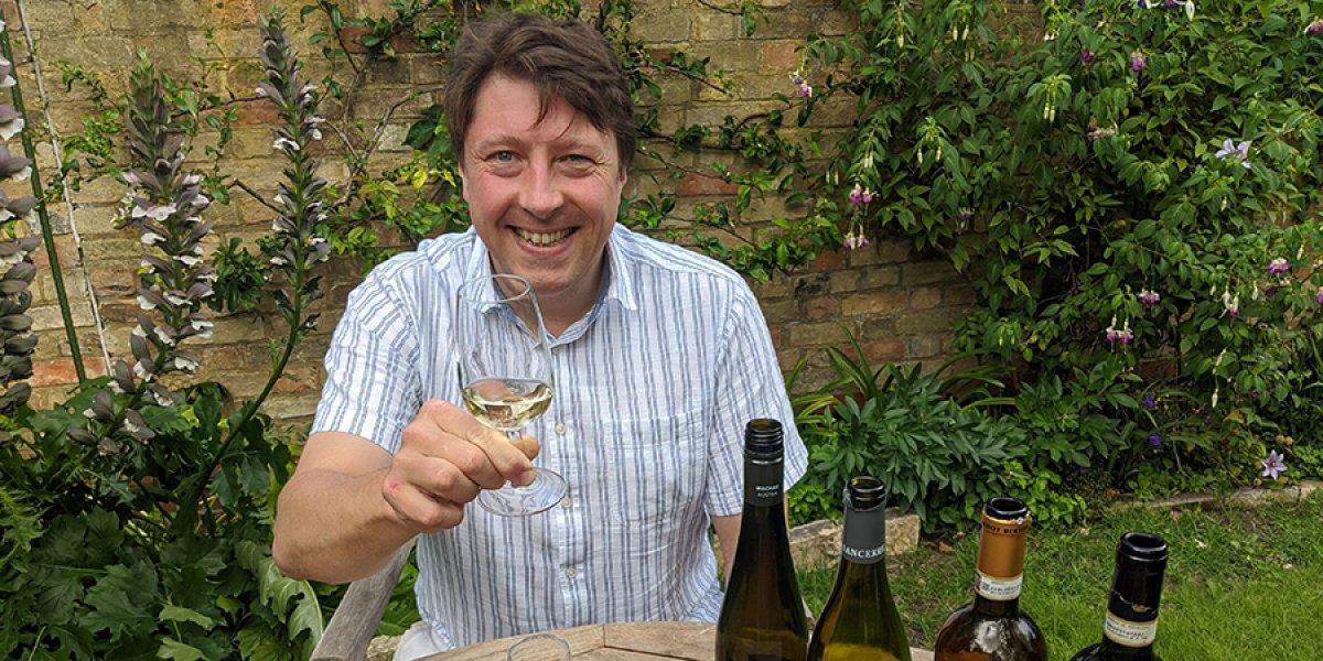Dr Alex Thom hosting a wine tasting
