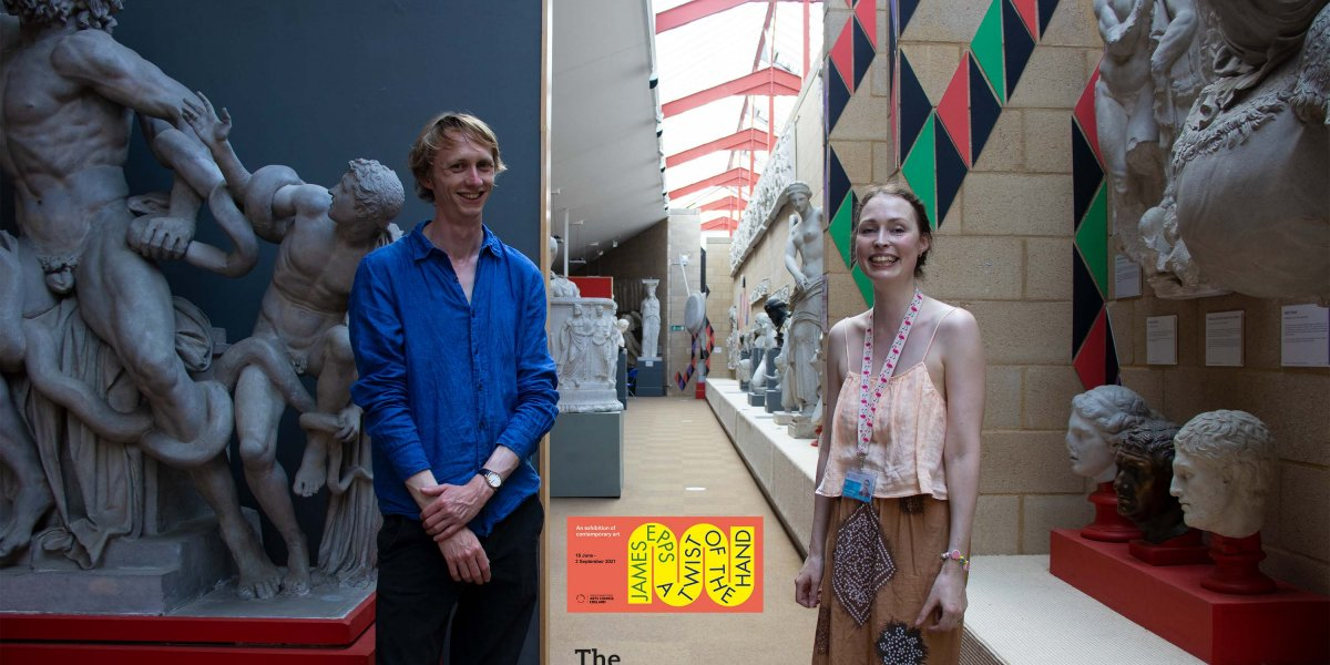 Image of James Epps and Dr Susanne Turner at the exhibition