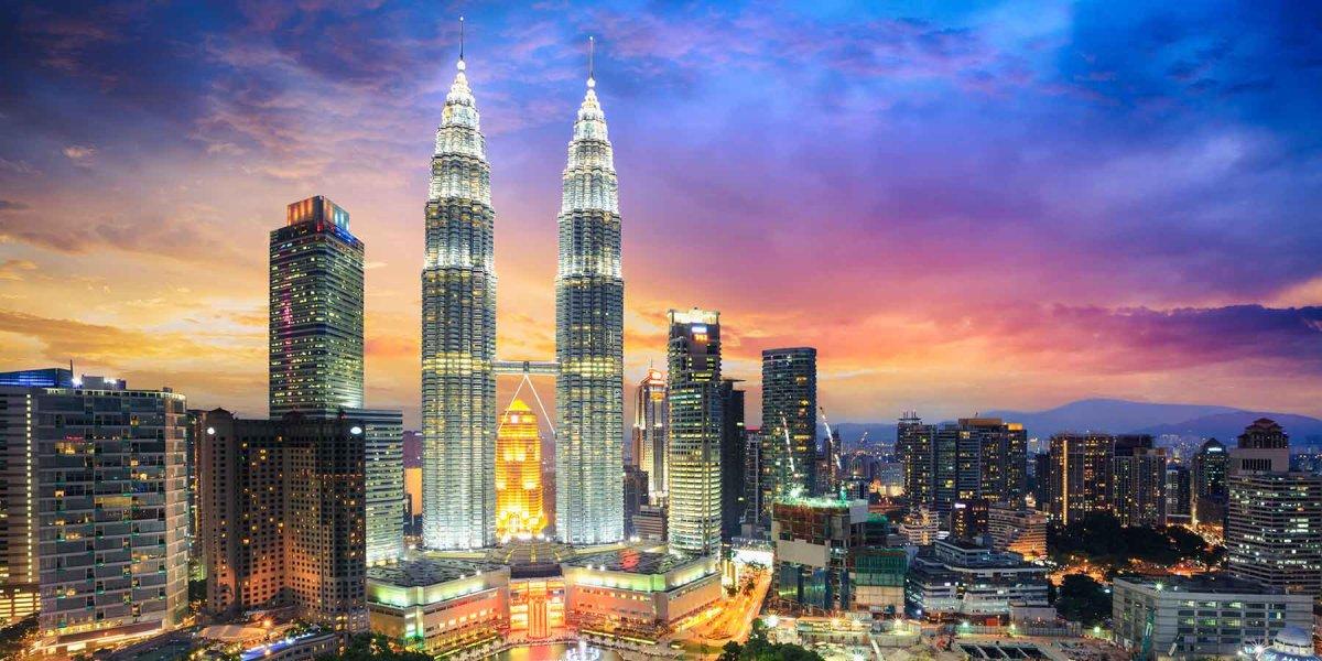 Kuala Lumpur illuminated cityscape