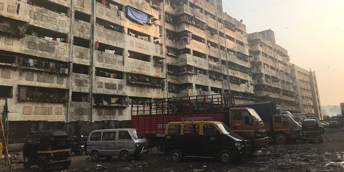 Slum settlements in India