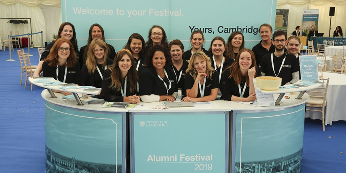 Staff at the Alumni Festival