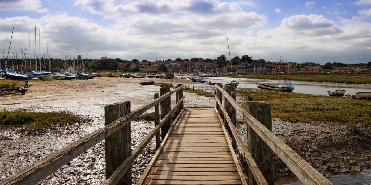 Blakeney from the marshes