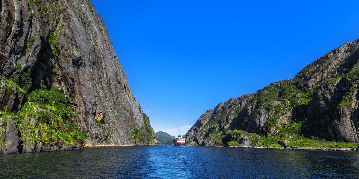 Cruise ship on Trollfjord
