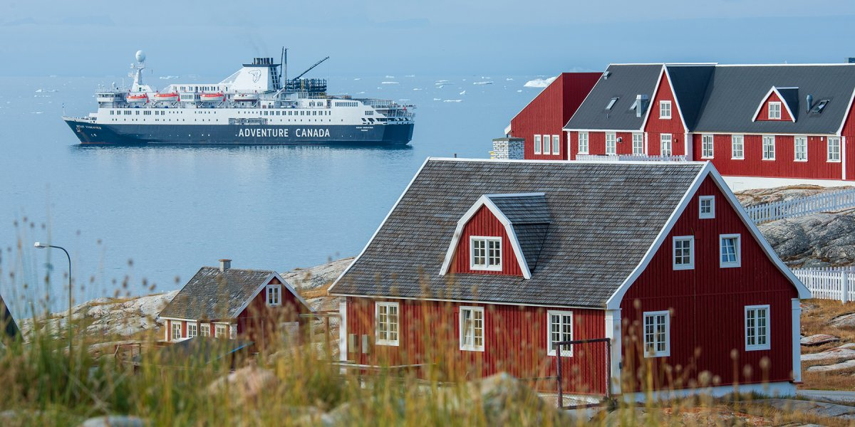 Ilulissat ship anchored by Dennis Minty