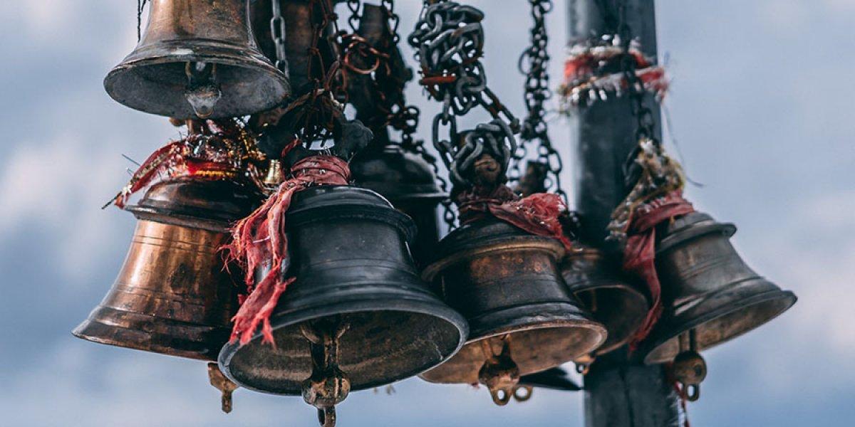 Himalaya temple bells