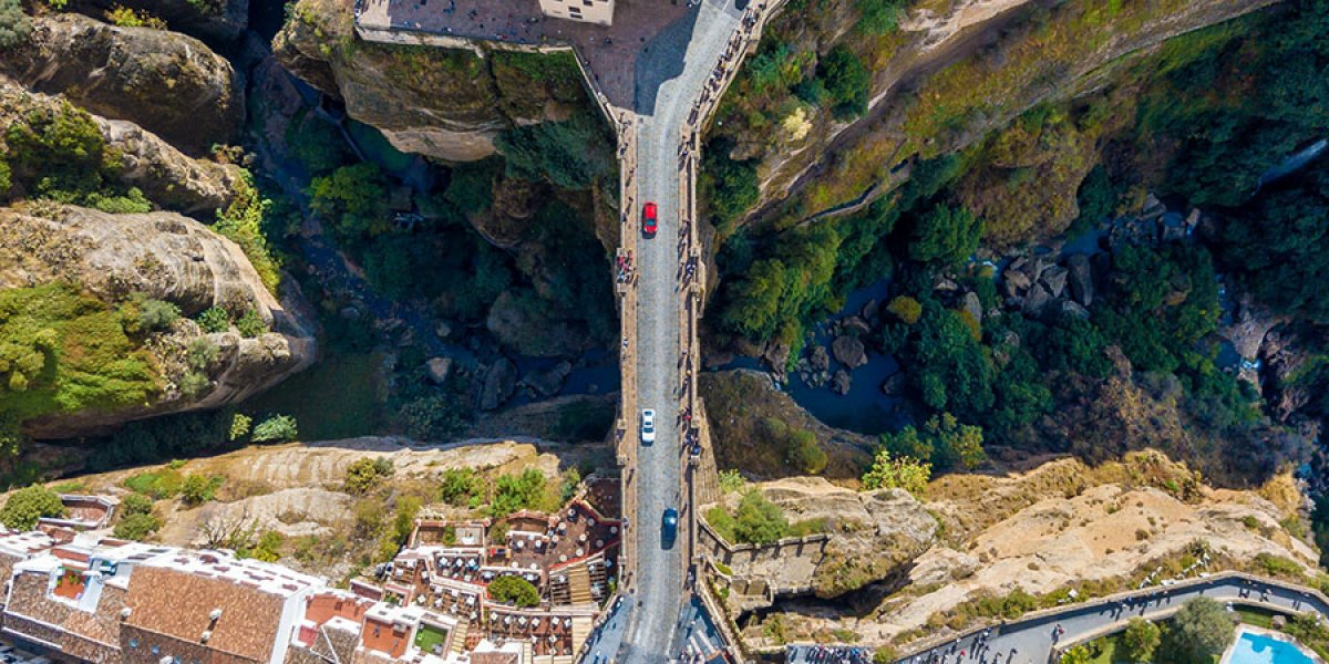 Birds eye view of Ronda, Spain