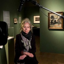 Curator Jane Munro during filming at the exhibition - credit: Exhibitions On Screen