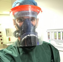 Dr David firth wearing full PPE