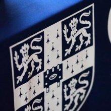 University shield on cloth